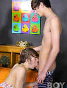 Dakota White, Ricky Hilton and Elijah Young A Threesome Of Friendly Oral at